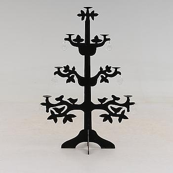 """GOLVLJUSSTAKE, möjligen Bertil Vallien, smide och glas, """"Livets träd"""", 1900-talets andra hälft."""