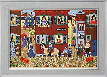 STINA SUNESSON, färglitografi, signerad, daterad 1960 och numrerad 202/350.