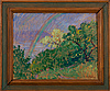 Alfred william finch, landskap med regnbÅge