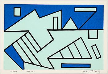 OLLE BAERTLING, färgserigrafi, 1950-68, signerad och numrerad 144/300.