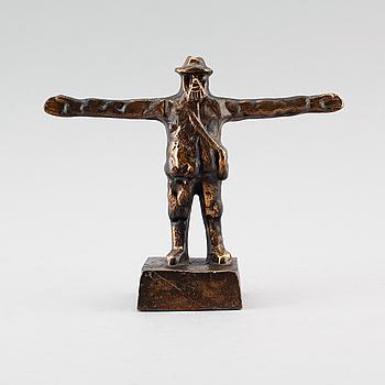 SKULPTUR, brons, för ABU, signerad HjE, 1900-talets andra hälft.