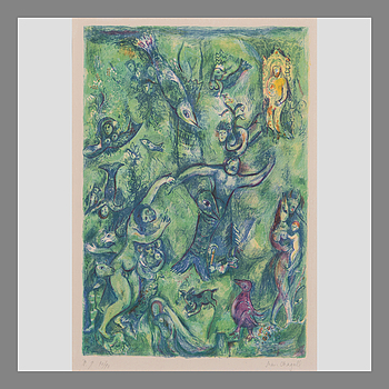 "MARC CHAGALL, MARC CHAGALL, PL. 9, ""ABDULLAH DISCOVERED BEFORE HIM...""."