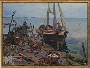 WILHELM SMITH, Olja på duk. Signerad och daterad 1894.