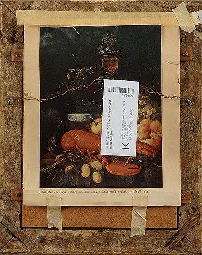 """Johan johnsen, """"mispelkvist med frukter"""" (= branch with medlar fruits)."""