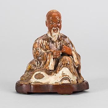 RÖKELSEHÅLLARE/FIGURIN, keramik, Kina.