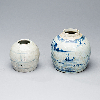 BOJANER , 2 st, Kina, sekelskiftet 1800/1900.