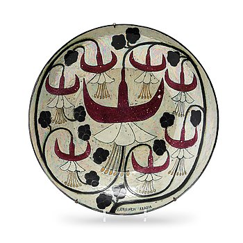 1. Birger Kaipiainen, a glazed stoneware dish, Arabia, Finland.