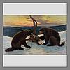 Juho kyyhkynen, two wolverines