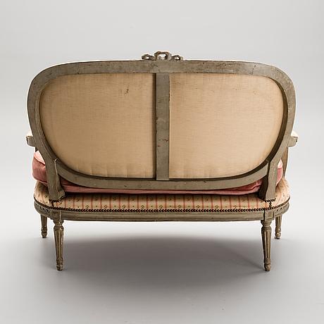 Soffa, nyklassicism, frankrike, 1700 talets slut