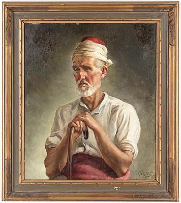ALEXANDER TOLSTOY, olja på duk. Signerad och daterad 1936.