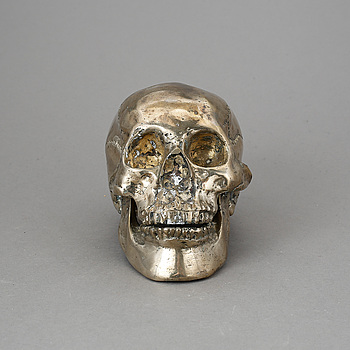 SKULPTUR, försilvrad metall, 1900-talets andra hälft.