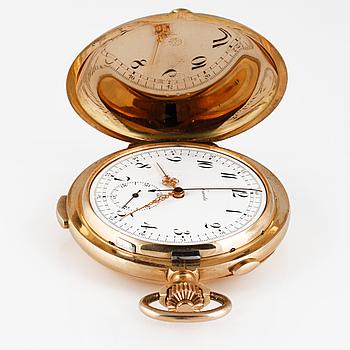 FICKUR, Invicta, minutrepetition, chronograph, 14K guld, ca 1900.