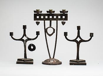 LJUSSTAKAR, 3 st, 1900-talets första hälft.