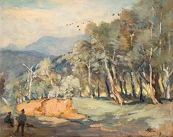 "1015. Albert Henry Fullwood, ""A Mountain Road""."