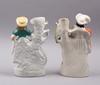 Figuriner, ett par, porslin, möjligen staffordshire, 1800-tal.