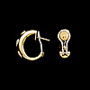 A pair of earrings, chimento, 18k gold, brilliant cut diamonds. weight in total c. 13.4 g