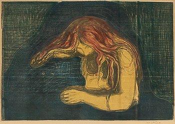 """955. Edvard Munch, """"Vampire II"""" (Vampyr II)."""
