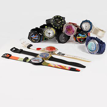 ARMBANDSUR, 11 st, Swatch, mestadels 1990-tal.