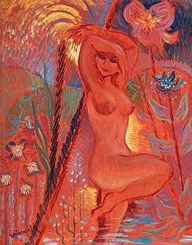 49. ISAAC GRÜNEWALD, Kvinna i rött.