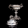 A sugar bowl with lid, silver, helsinki, roland melin 1860. weight 1195 g