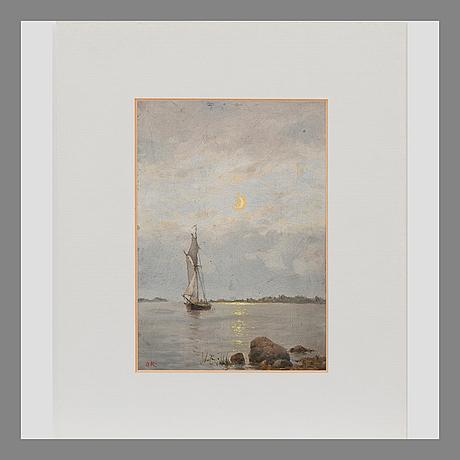 Oscar kleineh, summer night by the coast