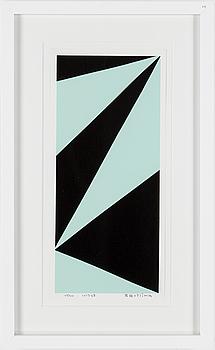 OLLE BAERTLING, serigrafi, signerad, numrerad 65/300 och daterad 1957-68.