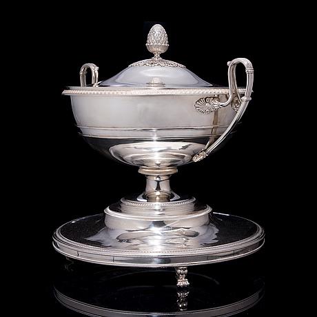 Terrin, silver, empire, 1821, wien. vikt 3,9 kg