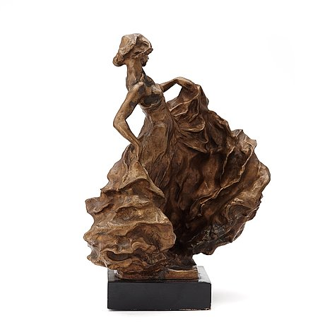 "Carl milles, ""serpentindanserska"" (= serpentine dancer)."