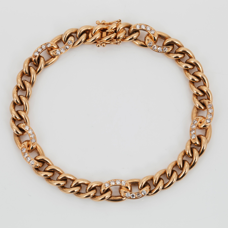 A Brilliant-cut Diamond Bracelet. Total Carat Weight Of