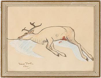 EINAR JOLIN, pastell, signerad , daterad 1941.