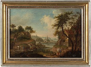 JOHAN PHILIP KORN, Tillskriven, olja på pannå, 1700-tal.