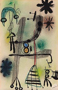 218. JOAN MIRÓ, Untitled (Personnages et étoiles).