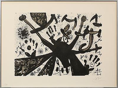 JOAN MIRÓ, litografi, signerad och numrerad XXI/XXV.