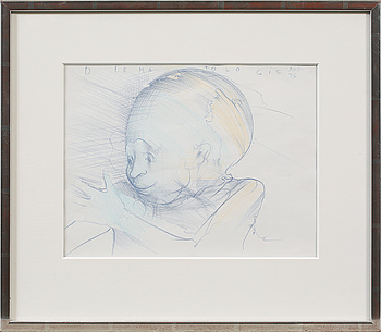 DJURIC MIODRAG DADO, teckning, signerad och daterad -76.