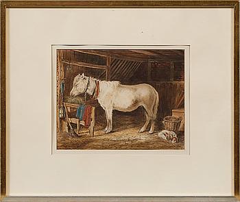 OKÄND KONSTNÄR, akvarell, monogramsignerad C W, England, omkring år 1900.