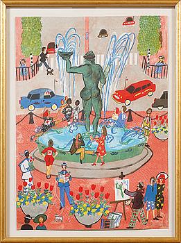 MARIKA LANG, färglitografi, signerad och numrerad 314/360.