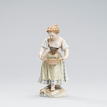 FIGURIN, porslin, Meissen, 1800-tal.