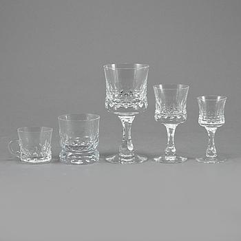 """SERVISDELAR, 27 st, glas, """"Prince"""", Göran Wärff, Kosta, 1900-talets slut."""