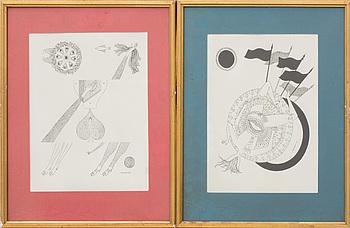 MAX WALTER SVANBERG, 4 st färglitografier, signerade i stenen.