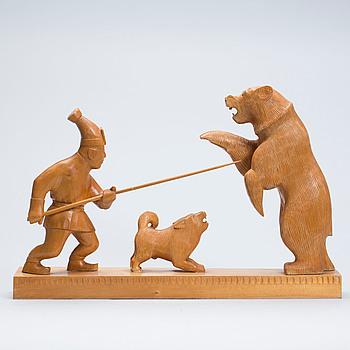 OKÄND KONSTNÄR, träskulptur, 1900-talets mitt.