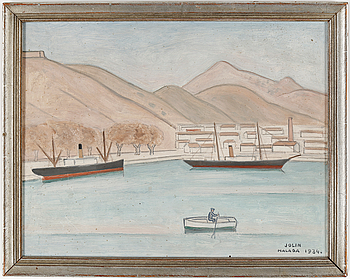 EINAR JOLIN, olja på pannå, signerad och daterad Malaga 1934.