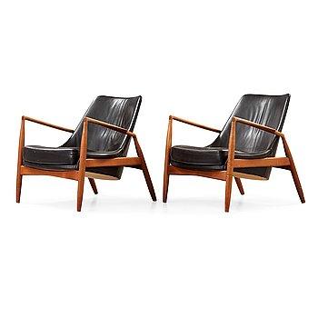 43. Ib Kofod Larsen, a pair of 'Seal' armchairs, Olof Persson Möbler, Sweden 1950's-60's.
