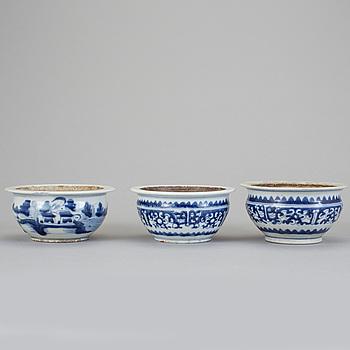 YTTERFODER, 3 st, porslin, Kina, 1800-tal.