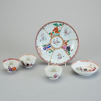 PARTI PORSLIN, 4 delar, Kina, 1700-tal.