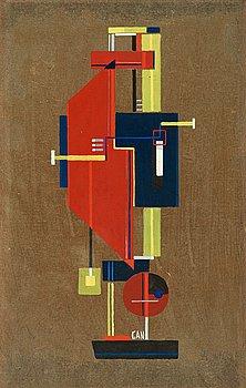 "3. GÖSTA ADRIAN-NILSSON, ""Komposition silver fond""."
