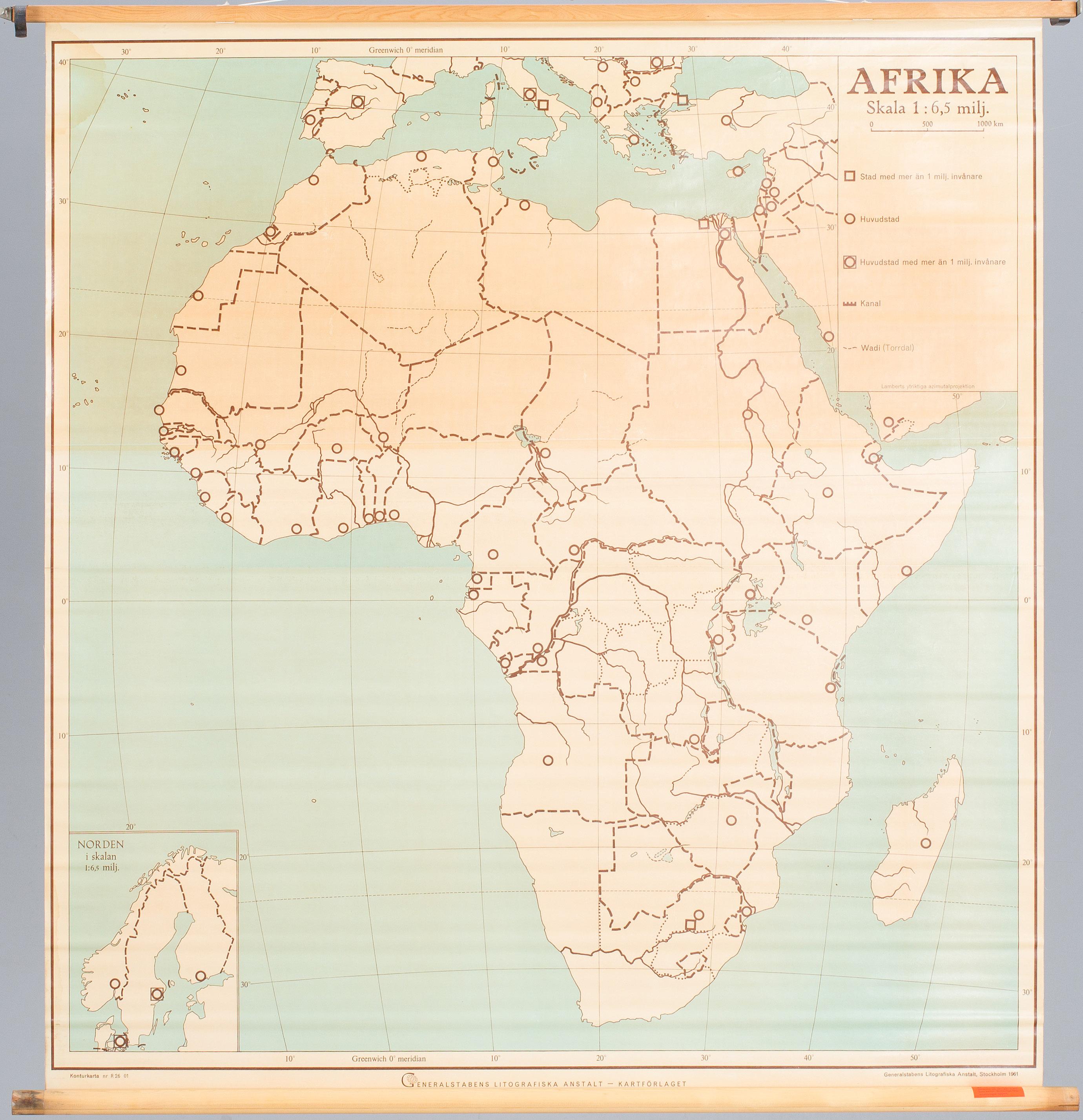 Skolkartor 3 St Afrika Asien Samt Glob Karta Bukowskis