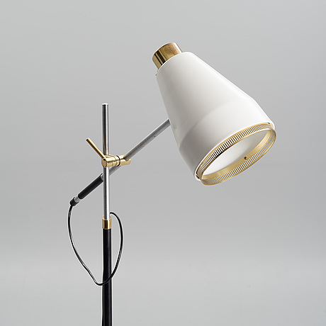 Viljo hirvonen, a floor lamp, h 801. stamped valaistustyö, h 801. early 1970s