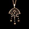 A pendant, demantoid garnets, 14k (56) gold. moscow, early 1900s