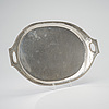 Tray, silver, st:petersburg, gotthard stang 1780 1820, weight 1182 g