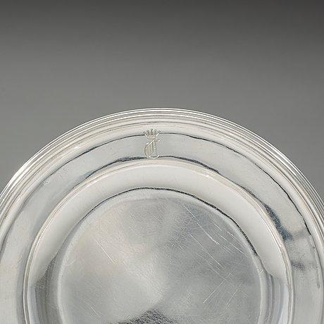 A set of 12 swedish 19th century silver plates, christian hammer and gustaf möllenborg, stockholm 1864-1875 (9+3).